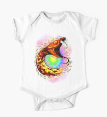 Snake Attack Psychedelic Surreal Art Short Sleeve Baby One-Piece