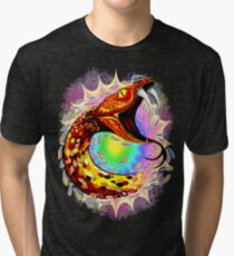 Snake Attack Psychedelic Surreal Art Tri-blend T-Shirt