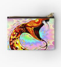 Snake Attack Psychedelic Surreal Art Zipper Pouch