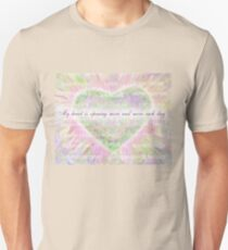 Inspirational Subliminal Art - Heart Chakra Openin - Affirmations Unisex T-Shirt
