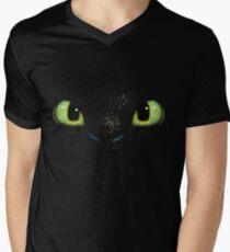 Toothless fiery eyes Men's V-Neck T-Shirt
