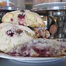 Red Raspberry Scones by AuntieBarbie