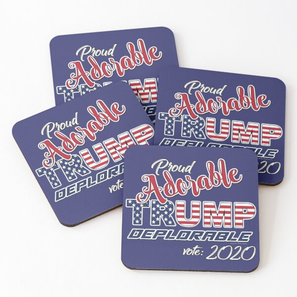 2020 Adorable Deplorable   TRUMP SUPPORTER  Coasters (Set of 4)