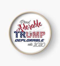 2020 Adorable Deplorable | TRUMP SUPPORTER  Clock