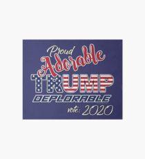 2020 Adorable Deplorable   TRUMP SUPPORTER  Art Board Print