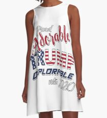 2020 Adorable Deplorable | TRUMP SUPPORTER  A-Line Dress