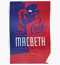 WPA United States Government Work Project Administration Poster 0114 Macbeth Poster