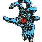 Blue Zombie Hand by StickaBomb