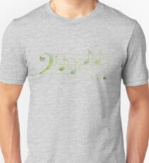 BASS Words in Music - Green - a V-Note Creation T-Shirt
