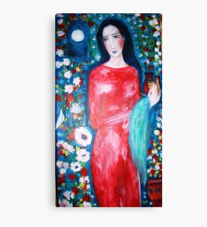 """""""  lady with perfume """" Canvas Print"""