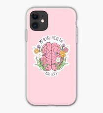 Mental Health Matters Floral Quote Art iPhone Case