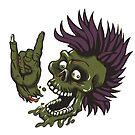 Zombie Metal Head by StickaBomb