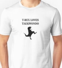 T-Rex Loves Taekwondo Unisex T-Shirt