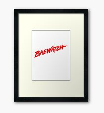 BAEWATCH Tee Framed Print