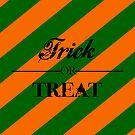 """""""Süßes oder Saures"""" - Halloween, Streifen, Orange, Grün von CanisPicta"""