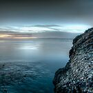 Blue bay and barnacles by Avena Singh
