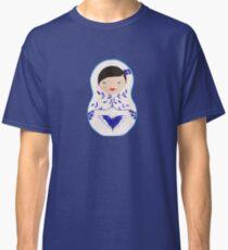 Blue  Babushka Classic T-Shirt