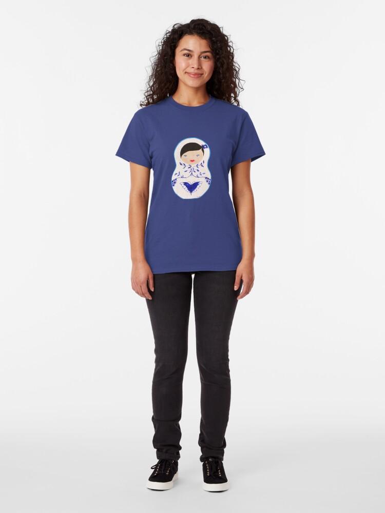 Alternate view of Blue  Babushka Classic T-Shirt