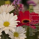 Poem and Flower Photography -Titled- Healing Words by Keith Vander Wees