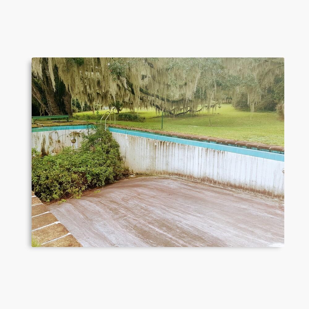 Abandoned Pool - Let's Go Swimming Metal Print