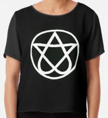 Him Heartgram Finish Gothic Rock Band Chiffon Top