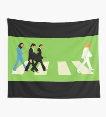 Beatles Walking Crosswalk Wall Tapestry