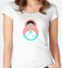 Sweet Bubble Babushka Fitted Scoop T-Shirt