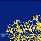 Blue and Yellow Cereus by hdwrittenaloha