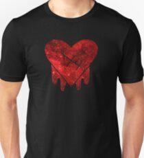 Gravity Falls Robbie Heart Galaxy Print Slim Fit T-Shirt
