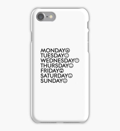 Typical Week iPhone Case/Skin