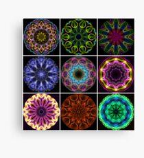 Flame Kaleidoscopes Canvas Print