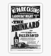 WPA United States Government Work Project Administration Poster 0429 The Drunkard or The Fallen Saved Sticker