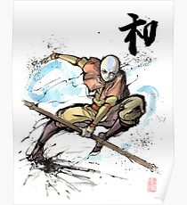 Aang from Avatar TV series Poster