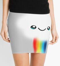 Happy Kawaii Rainbow Cloud Mini Skirt
