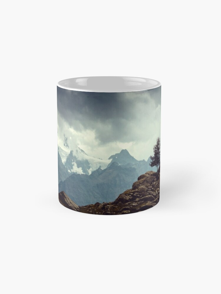 Alternate view of Majestic Mountains and a lone tree Mug