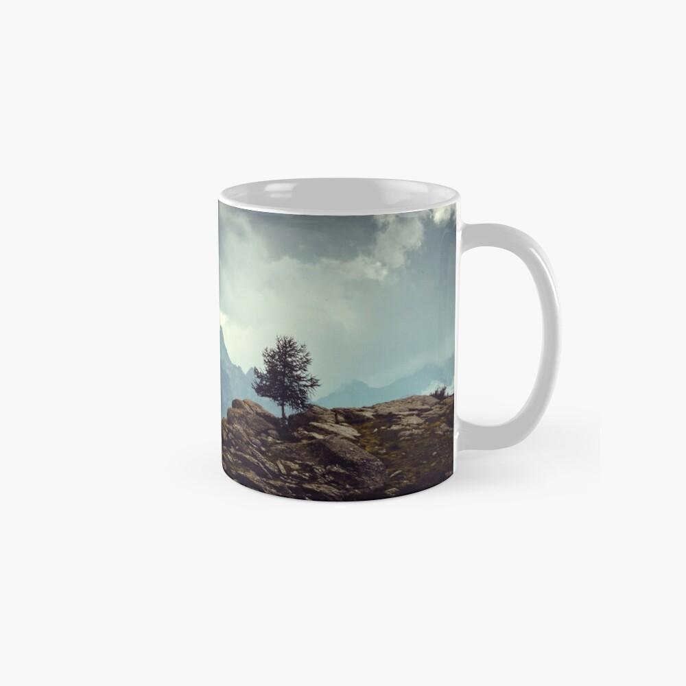 Majestic Mountains and a lone tree Mug
