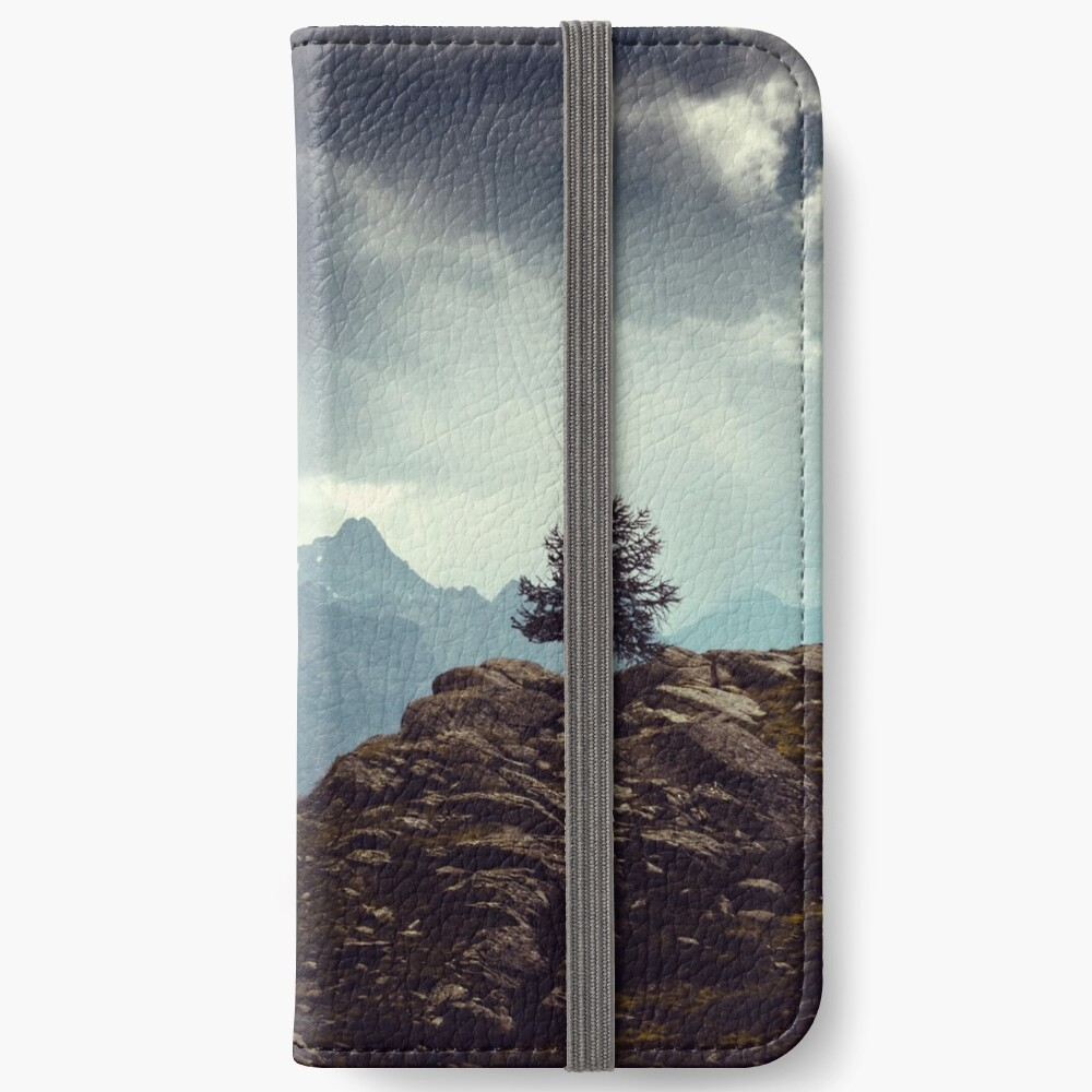 Majestic Mountains and a lone tree iPhone Wallet