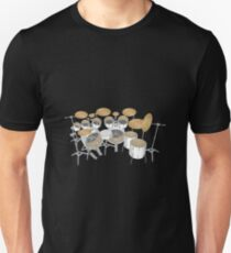 White Drum Kit T-Shirt