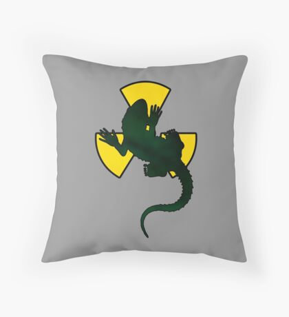Gecko Radioactive Throw Pillow