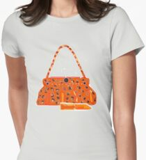 CAT WOMAN BAG/LIPPY   T SHIRT/BABYGROW. Womens Fitted T-Shirt