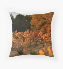 Auumn colours Minervois Vineyard France Throw Pillow