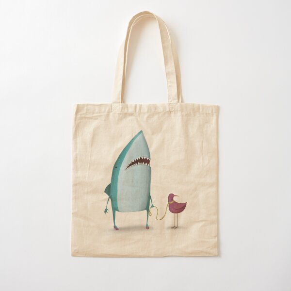 Shark and friend Cotton Tote Bag