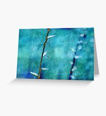 aqua and indigo Greeting Card