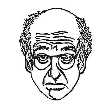 Larry David Face Stationary by averyboringname