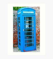Blue telephone box Art Print