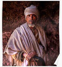 Pilgrim, Lalibela, Ethiopia Poster