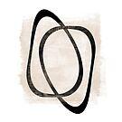 Interlocking Two AA   Minimalist Line Abstract by Menega  Sabidussi