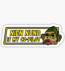 Star Wars - Nien Nunb Is My Co-Pilot Sticker