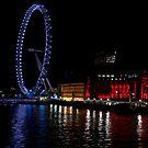 London eye at night by Dean Messenger
