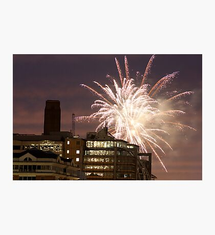Fireworks over London Photographic Print